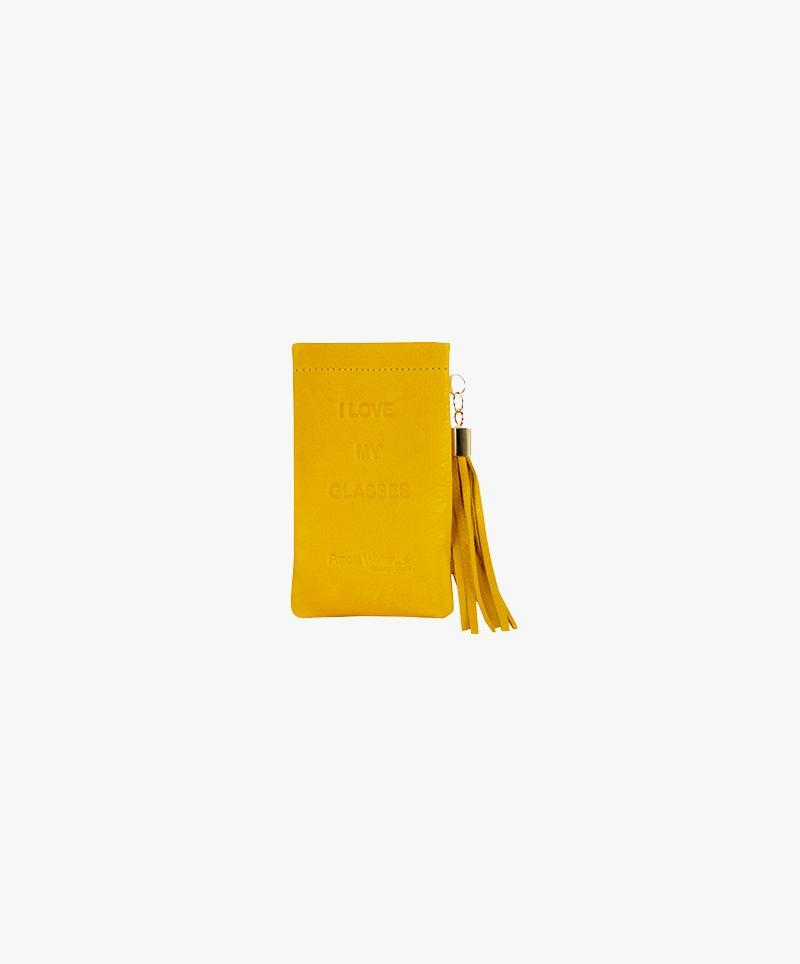 Funda gafas amarilla