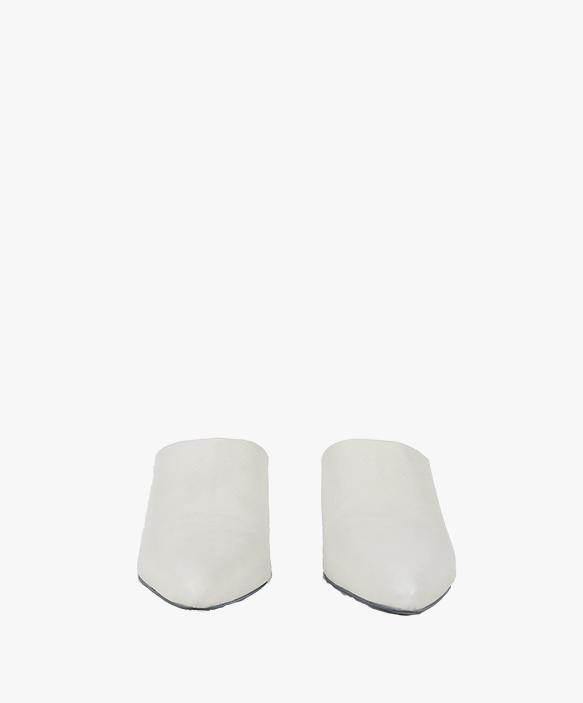 Mule liso Blanco Roto