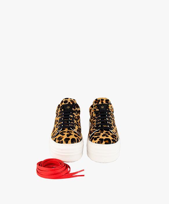Black Leopard Print Sneaker
