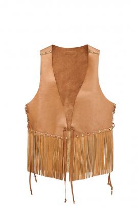 Waistcoat Ibiza leather colour