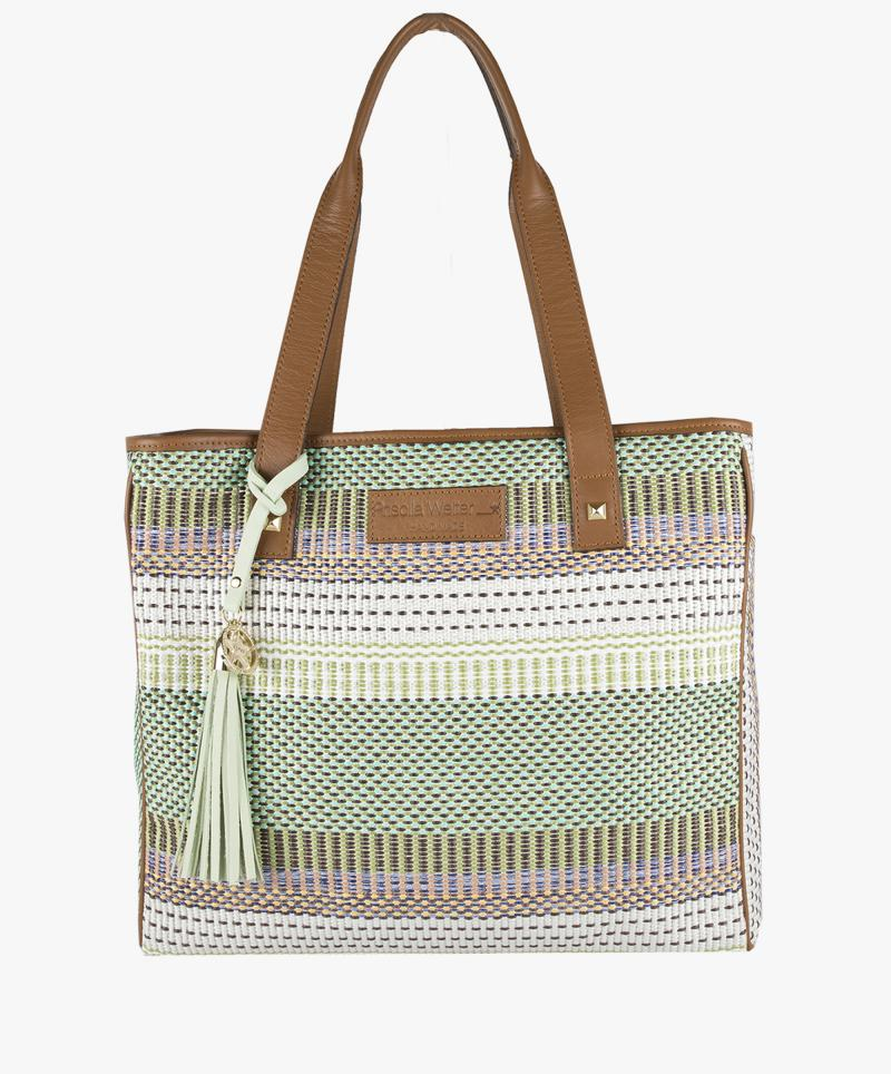 Shopping Bag Rafia Colores Grande