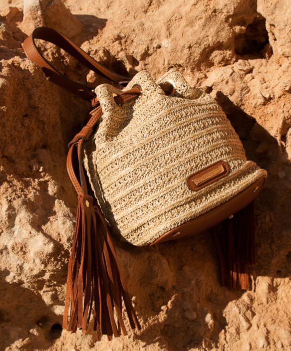 Natural Raffia Bag - Sack
