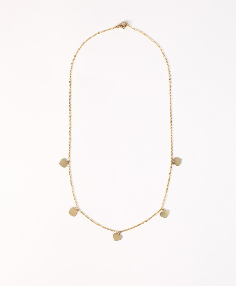 5 Hearts Necklace