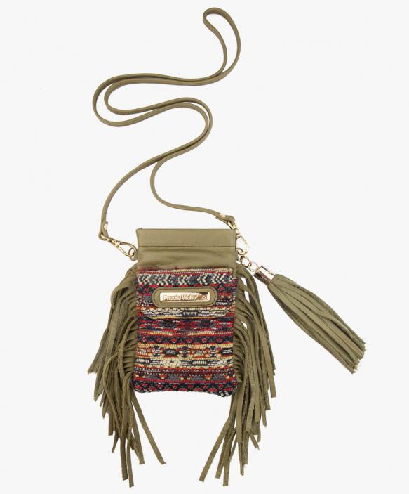 Folk Smartphone Bag - Fringed