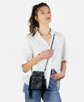 fringed smartphone bag with pocket
