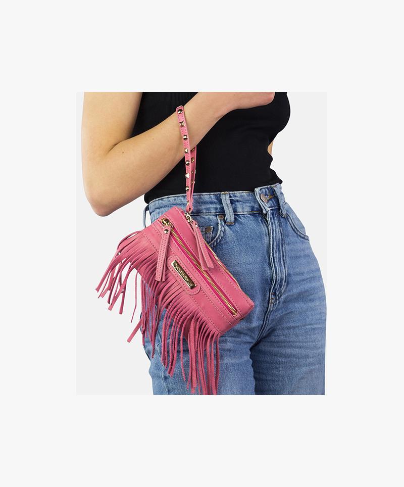Fringed belt pouch Ibiza 3 in 1 black