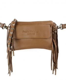 Fringed belt pouch black 3 in 1